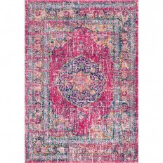nuLOOM Persian Vintage Arla Fuchsia 5 ft. x 7 ft. 5 in. Area Rug - RZBD42A-5075 - The Home Depot
