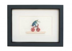 Insect Art Taxidermy Beetle Riding Red Tricycle Natural