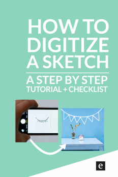 How To Turn A Sketch Into Digital Art on Inspirationde
