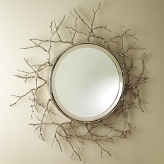 GLOBAL VIEWS | products | Twig Mirror-Nickel