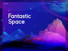 Fantastic Space Illustration by Zahidul on Inspirationde