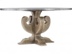 Hooker Furniture Dining Room Boheme Ascension 60in Zinc Round Dining Table 5750-75213-SLV