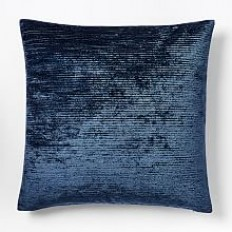 Ribbed Shine Pillow Cover - Midnight | west elm