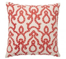 French Knot Trellis Pillow Cover   Pottery Barn