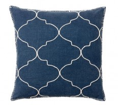 Tile Embroidered Pillow Cover | Pottery Barn