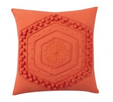 Pom Pom Embroidered Pillow Cover   Pottery Barn