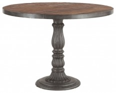 """Zin Home - French Soda Fountain Wood Top Round Kitchen Table 42"""" & Reviews 