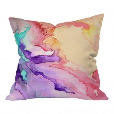 Deny Designs Rosie Brown My World Throw Pillow & Reviews | Wayfair