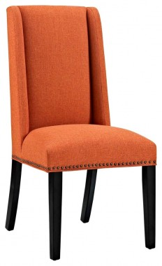 Modern Contemporary Urban Kitchen Room Dining Chair, Navy Blue, Fabric Wood - Contemporary - Dining Chairs - by House Bound