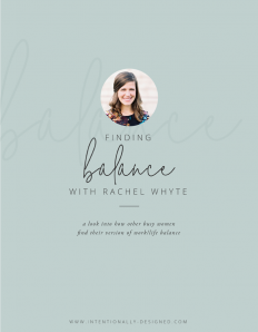 FINDING BALANCE WITH RACHEL WHYTE on Inspirationde