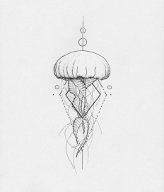 Jellyfish geometric by Arley Cornell on Inspirationde