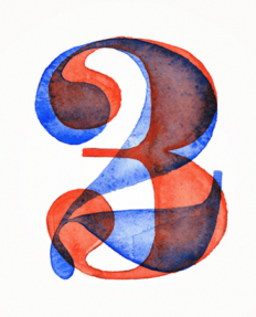Resistenza watercolor numbers on Inspirationde