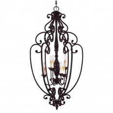 Shop Shandy 26-in Distressed Bronze Single Pendant at Lowes.com