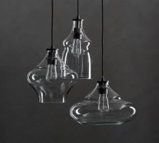 McCarthy 3-Light Glass Pendant   Pottery Barn