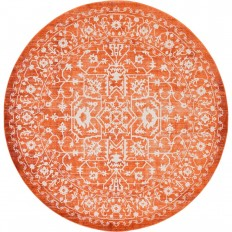 Unique Loom Arcadia Terracotta 8 ft. x 8 ft. Round Area Rug-3131226 - The Home Depot