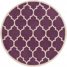 Artistic Weavers Transit Piper Eggplant 8 ft. x 8 ft. Round Indoor Area Rug - AWHE2016-8RD - The Home Depot