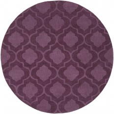 Artistic Weavers Central Park Kate Eggplant 7 ft. 9 in. x 7 ft. 9 in. Round Indoor Area Rug - AWHP4013-79RD - The Home Depot