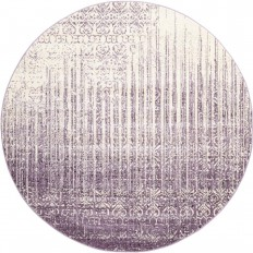 Unique Loom Del Mar Purple 8 ft. x 8 ft. Round Rug - 3114739 - The Home Depot