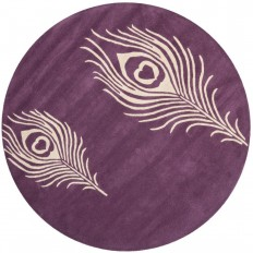 Safavieh Soho Purple/Ivory 8 ft. x 8 ft. Round Area Rug-SOH704A-8R - The Home Depot