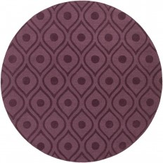 Artistic Weavers Central Park Zara Eggplant 7 ft. 9 in. x 7 ft. 9 in. Round Indoor Area Rug - AWHP4006-79RD - The Home Depot