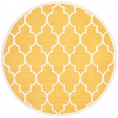 Safavieh Cambridge Gold/Ivory 8 ft. x 8 ft. Round Area Rug-CAM134Q-8R - The Home Depot