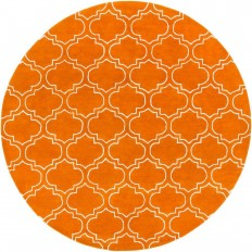Artistic Weavers Signature Emily Orange 8 ft. x 8 ft. Round Indoor Area Rug - AWSG2143-8RD - The Home Depot