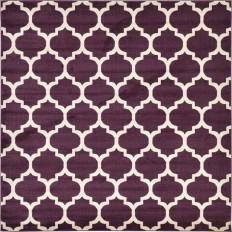 Unique Loom Trellis Purple 8 ft. x 8 ft. Square Area Rug-3128638 - The Home Depot