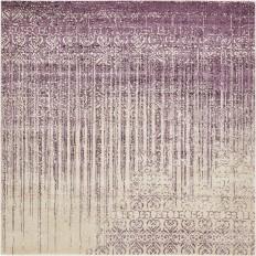 Unique Loom Vintage Del Mar Rain Purple 8 ft. x 8 ft. Square Rug-3129488 - The Home Depot