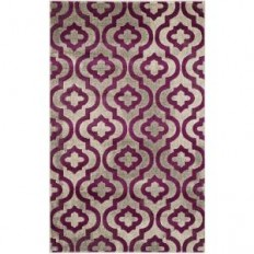 Safavieh Porcello Light Grey/Purple 8 ft. 2 in. x 11 ft. Area Rug - PRL7734B-8 - The Home Depot