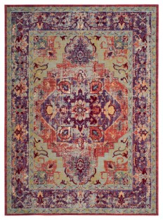 Safavieh Claremont Woven Rug, Purple/Coral - Contemporary - Area Rugs - by Safavieh