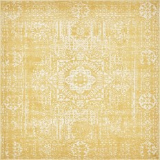 Unique Loom Tradition Yellow 8 ft. 4 in. x 8 ft. 4 in. Square Area Rug-3137269 - The Home Depot