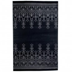Lavish Home Royal Garden Black 4 ft. x 6 ft. Area Rug-62-2024A-65-46 - The Home Depot