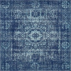 Unique Loom Tradition Navy Blue 8 ft. 4 in. x 8 ft. 4 in. Square Area Rug - 3137262 - The Home Depot