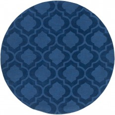 Artistic Weavers Central Park Kate Navy 7 ft. 9 in. x 7 ft. 9 in. Round Indoor Area Rug - AWHP4008-79RD - The Home Depot