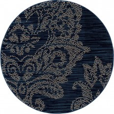Art Carpet Bastille Large Damask Blue 7 ft. 10 in. x 7 ft. 10 in. Round Area Rug-841864107425 - The Home Depot