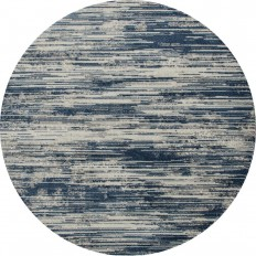 Art Carpet Ferndale Brushstrokes Aqua 7 ft. 10 in. x 7 ft. 10 in. Round Area Rug-22503 - The Home Depot