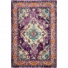 Safavieh Monaco Violet/Light Blue 6 ft. 7 in. x 9 ft. 2 in. Area Rug - MNC243L-6 - The Home Depot