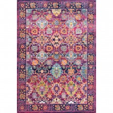 nuLOOM Persian Leilani Fuchsia 8 ft. x 10 ft. Area Rug - RZBD41A-8010 - The Home Depot