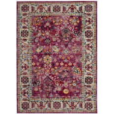 Shop Safavieh Savannah Violet/Gray Indoor Distressed Area Rug (Common: 8 x 10; Actual: 8-ft W x 10-ft L) at Lowes.com
