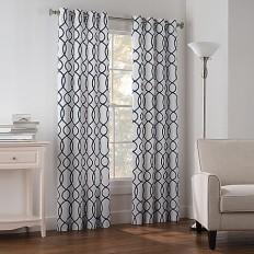 Newport Wave Light-Filtering Grommet Top Window Curtain Panel - Bed Bath & Beyond