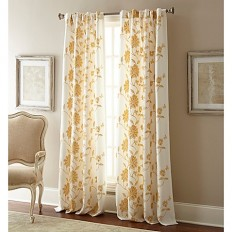 Jaylynn Rod Pocket Embroidered Window Curtain Panel - Bed Bath & Beyond