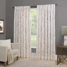 Willow Back Tab Window Curtain Panel - Bed Bath & Beyond