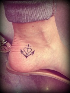 Cross Heart Anchor Tattoo on Inspirationde