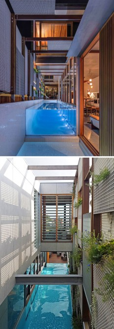 This New House Was Surrounded With Screens To Filter The Light And Create Privacy on Inspirationde