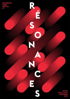 Résonances, Poster submitted and Designed by Atelier Tout va bien (Mathias Reynoird & Anna Chevance, 2013) on Inspirationde