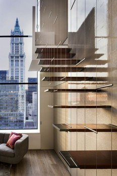 Loft staircase, floating design on Inspirationde
