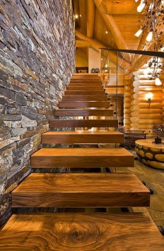 Wooden loft staircase, cozy and beautiful house on Inspirationde