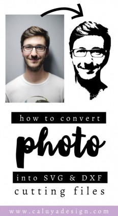 How to Convert a Portrait Photo Into SVG & DXF Cuttable File on Inspirationde