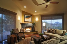 Contemporary Southwest Living Room Remodel - Fountain Hills, AZ - Eclectic - Living Room - Phoenix - by SPACES Interior Design