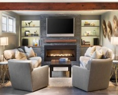 20K Fireplace Bookcase Home Design Ideas & Designs | Houzz